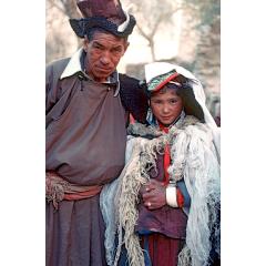 Tibetan Bride and Father