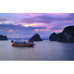 Blue Sunset at Halong Bay